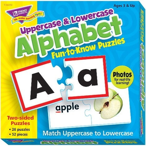Trend Enterprises Uppercase and Lowercase Alphabet Puzzle Set