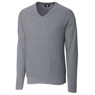 Cuttrer & Buck Heather Gray Mens Size 2XL Ribbed V-Neck Sweater