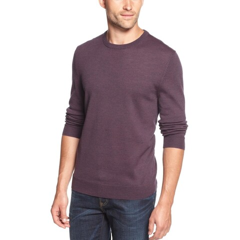 Club Room Mens Merino Wool Crewneck Sweater Size XL Purple