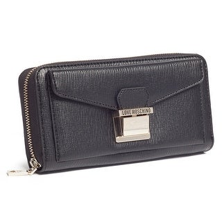 Moschino JC5550 0000 Black Zip Around Wallet