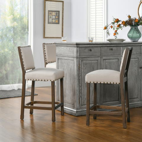 Jennifer Taylor Home Spade Linen 26 inch Counter-Height Barstool