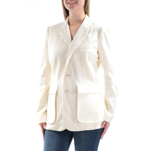 2ab02269 Shop Ralph Lauren Womens Ivory Pocketed Peacoat Coat Size: 10 - On Sale -  Free Shipping On Orders Over $45 - Overstock - 23467633