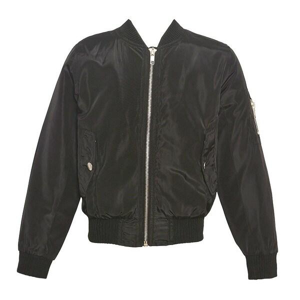 47ec67731 Shop Mini Moca Little Girls Black Fur Lined Full Zipper Trendy Bomber Jacket  4-6X - Free Shipping On Orders Over $45 - Overstock - 20103163
