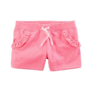 Carter's Little Girls' French Terry Short, Pink, 5-Toddler