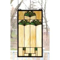 Meyda Tiffany 67787 Stained Glass Tiffany Window from the Ginko Collection - n/a