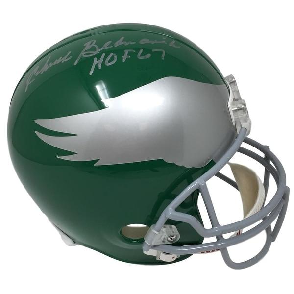 bc91c4aebd3 Shop Chuck Bednarik Signed Eagles Full Size Replica Throwback Helmet HOF 67  Fanatics - Free Shipping Today - Overstock - 22322172