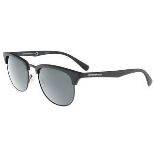 a018ae65dc Emporio Armani EA4072 504287 Matte Black Square Emporio Armani sunglasses -  52-19-140