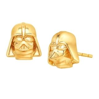Star Wars Darth Vader Stud Earrings in 10K Gold - YELLOW
