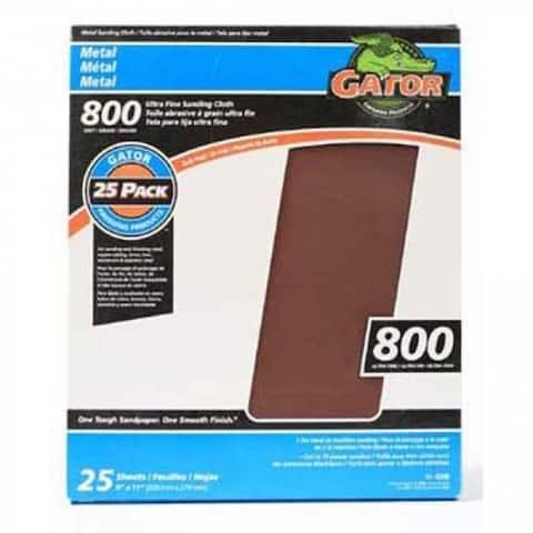 "Gator 4248 Ultra Fine Crocus Cloth, 800 Grit, 9"" x 11"""