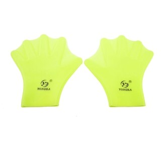 Unique Bargains Unique Bargains Soft Silicone Swim Assistant Swimming Webbed Gloves Hands Paddling Palm For Adult