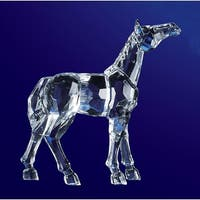 "Pack of 8 Icy Crystal Decorative Horse Figurines 5"" - Clear"