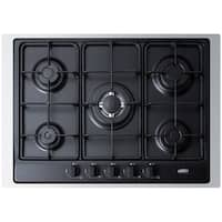 "Summit GC527TK 30"" Wide Built-In Gas Cooktop with Sealed Sabaf Burners, Dual Flame Burner and Trim"