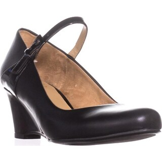 naturalizer Hester Mary Jane Pumps, Black Smooth/Shiny