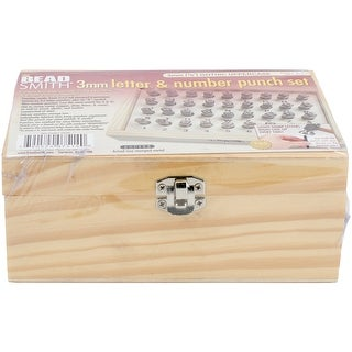 Alphabet & Number Punch Set W/Box 32/Pkg-Gothic 3Mm .125""