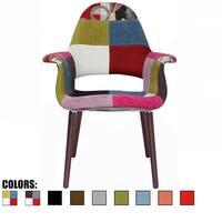 2xhome - Fabric Mid-Century Modern Accent Chairs Black Leg in (Ann) - N/A