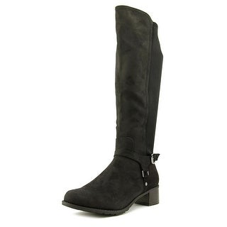 Madeline Frenzied Women Round Toe Canvas Knee High Boot