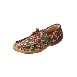 Twisted X Casual Shoes Womens Boat Shoe Tribal Canvas Multi