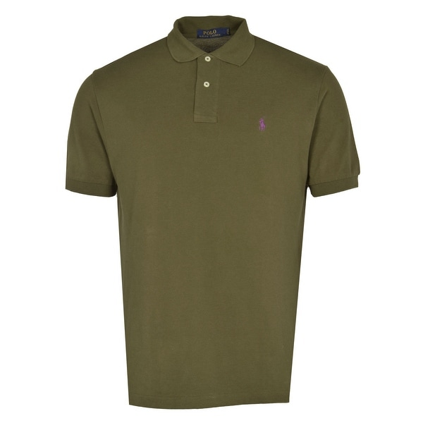 Polo Ralph Lauren Classic Fit Mesh Polo Shirt Olive Green Small