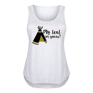 My Tent Or Yours, Teepee - Ladies Plus Size Tank