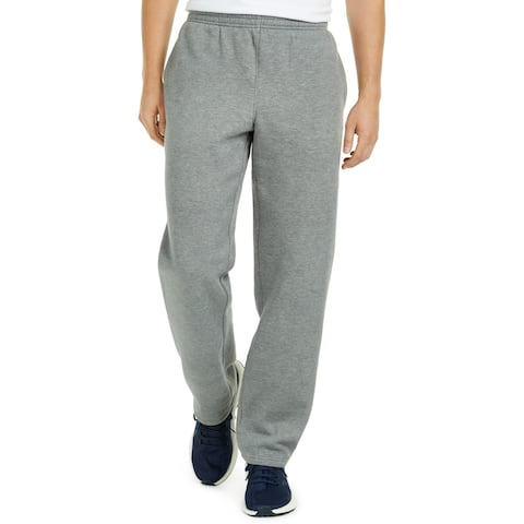 Ideology Mens Sweatpants Heather Gray Size 2XL Open-Hem Fleece-Lined