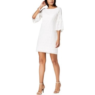 Jessica Howard Womens Cocktail Dress Eyelet Mini