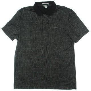 Calvin Klein Mens Polo Shirt Liquid Cotton Printed - M