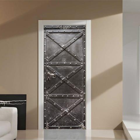 Walplus Metal Gate Peel and Stick Door Mural Sticker Home Decor DIY