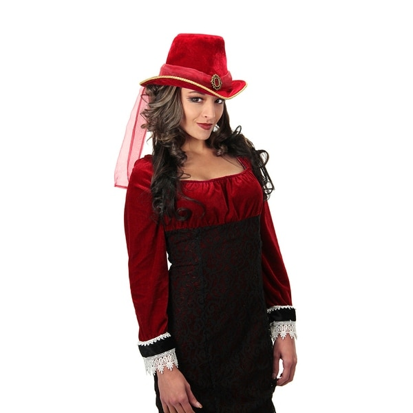 Women's Victorian Red Adult Costume Top Hat