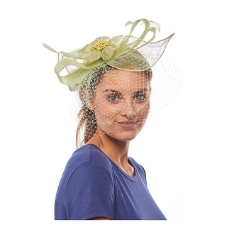 The Laszlo Sinamay Fascinator Cocktail Hat with Veil