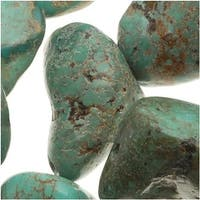 Stabilized Turquoise Gemstone Beads, Tumbled Nuggets 10-15mm, 15.5 Inch Strand, Blue Green