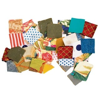 Roylco Square Fabric Mosaic, 1-3/4 X 1-3/4 in, Assorted Color, Pack of 400