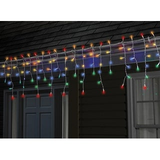 Sylvania V41229-71 Twinkle Tech Icicle Lights With Remote, Multicolor