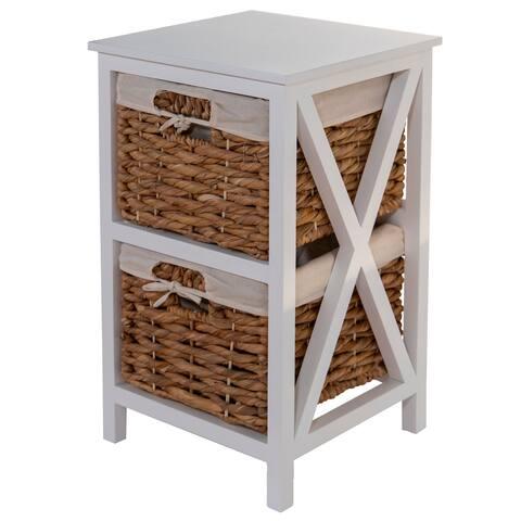 Off-White X Leg Wood Storage Side Table