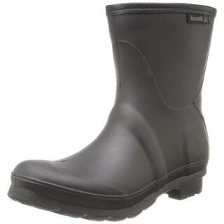 Kamik Womens Jenny Low Rubber Contrast Trim Rain Boots