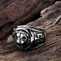 Vienna Jewelry King of the Jungle Stainless Steel Ring - Thumbnail 1