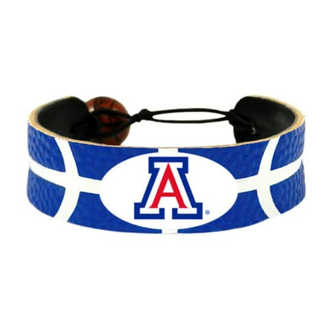 Arizona Wildcats Team Color NCAA Gamewear Leather Basketball Bracelet
