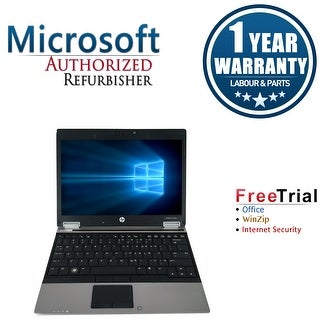 Refurbished HP EliteBook 2540P 12.1'' Laptop Intel Core i7-640LM 2.13G 4G DDR3 160G Win 10 Pro 1 Year Warranty - Black