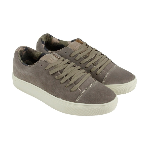bd0f07b2a5f Shop Steve Madden P-Cole Mens Gray Suede Lace Up Sneakers Shoes ...