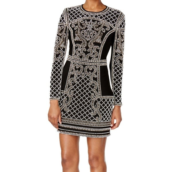 12608b1c Shop Xscape NEW Black Women's Size 6 Beaded Long Sleeve Sheath Dress ...