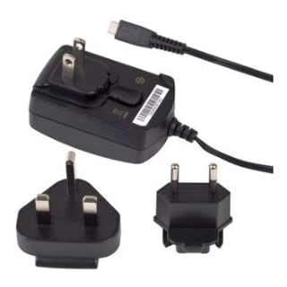 Blackberry Micro USB World Charger, International Charger with Global Adapters -