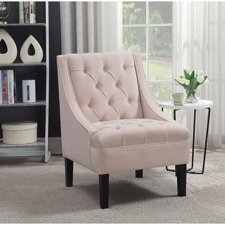 Link to Mid-century Modern Upholstered Wood Accent Chair Similar Items in Living Room Chairs