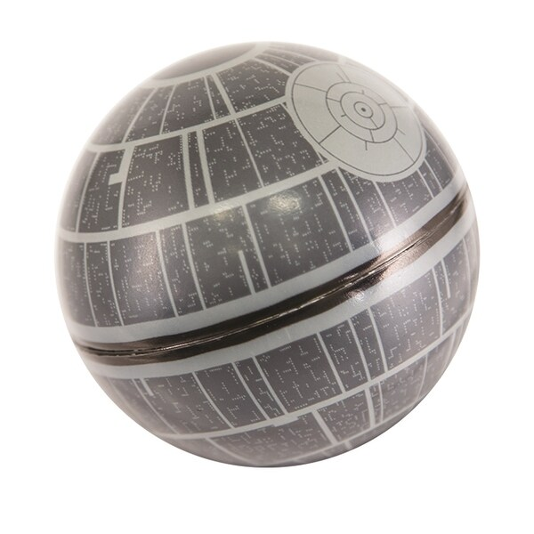 "3.25"" Gray and Black Star Wars Death Star Hop Inflatable Ball - N/A"