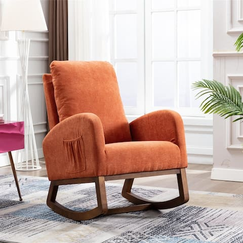 Living Room Comfortable Solid Wood Rocking Chair