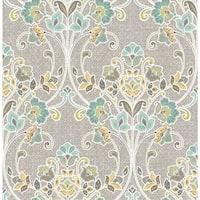 Brewster 1014-001810 Willow Grey Nouveau Floral Wallpaper - willow grey nouveau - N/A