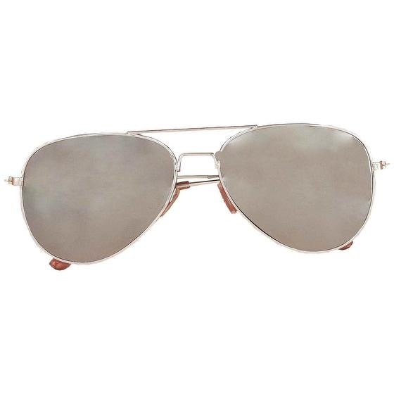 Police Mirrored Costume Sunglasses - Silver