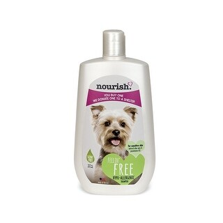 Nourish NOUR-125 16-Ounce Pet Dog Shampoo/Conditioner Scent Free