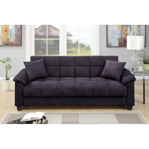 Microfiber Adjustable Sofa with Storage