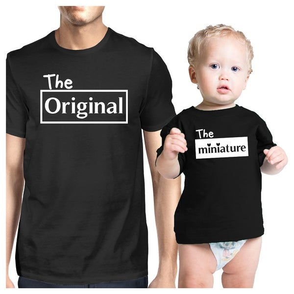 Original And Mini Black Dad Baby Matching Outfits Gift For New Dads