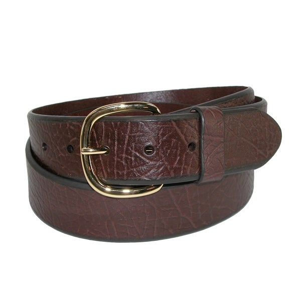 Aquarius Men's Big & Tall Oil Tanned Leather Belt with Removable Buckle