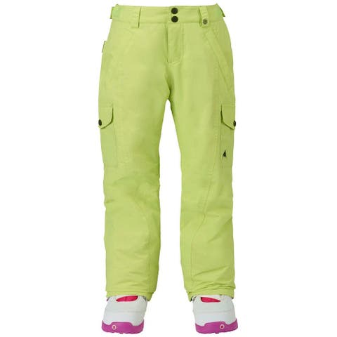 Burton Girl's Pants Green Size XL Cargo Water-Repellant Dry-Ride